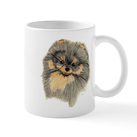 Pomeranian Black & Tan pencil Mug