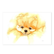 Pom Head Watercolor Postcards (Package of 8)