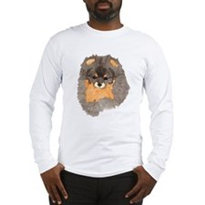 Pom Blk & Tan Headstudy Long Sleeve T-Shirt