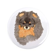 """Pom Blk & Tan Headstudy 3.5"""" Button (100 pack)"""