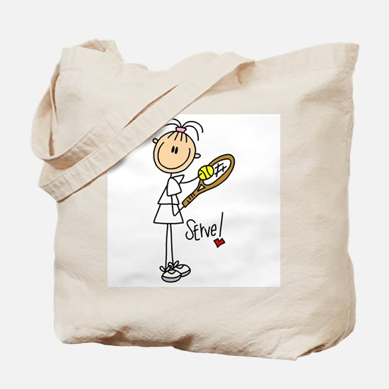 Tennis Serve Tote Bag