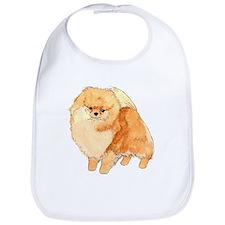 Pomeranian Fullbody Watercolor Bib