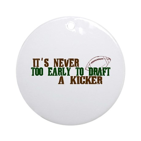 Fantasy Football Draft (Kicker) Ornament (Round)