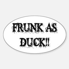 Frunk As Duck Oval Bumper Stickers