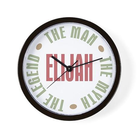 Elijah Man Myth Legend Wall Clock
