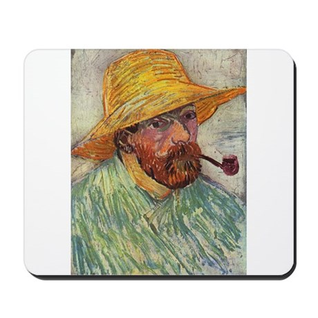 Self Portrait with Hat and Pipe Mousepad