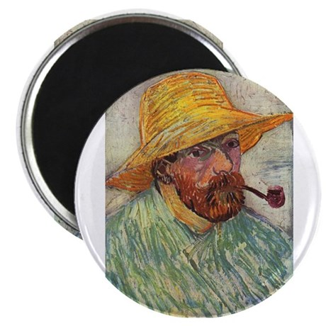 Self Portrait with Hat and Pipe Magnet