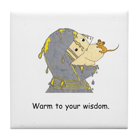 New Age Wisdom Gifts Tile Coaster