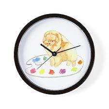 Pom Palette Wall Clock