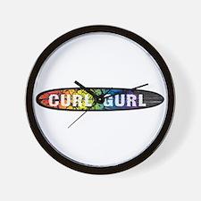 RainbowCurlGurl Wall Clock
