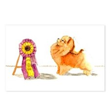 Pom w/ Show Ribbon Postcards (Package of 8)