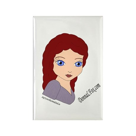 Donna Fox Rectangle Magnet