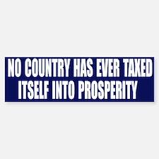 Tax Prosperity Bumper Bumper Bumper Sticker