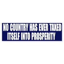 Tax Prosperity Bumper Car Sticker