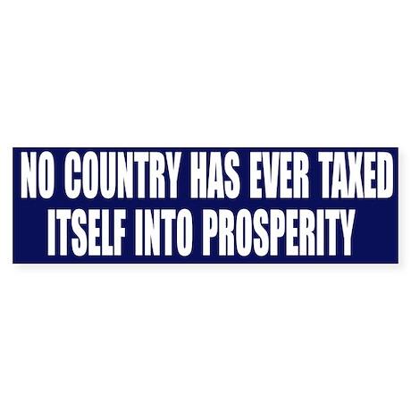 Tax Prosperity Bumper Sticker