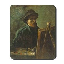 Self Portrait with Easel Mousepad