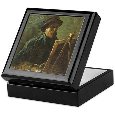 Self Portrait with Easel Keepsake Box