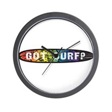 RainbowGotSurf? Wall Clock