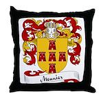 Meunier Family Crest Throw Pillow