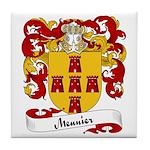Meunier Family Crest Tile Coaster