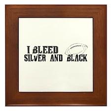 Bleed Silver and Black (Oakland) Framed Tile