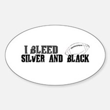 Bleed Silver and Black (Oakland) Oval Decal