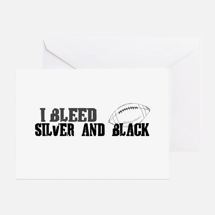 Bleed Silver and Black (Oakland) Greeting Card