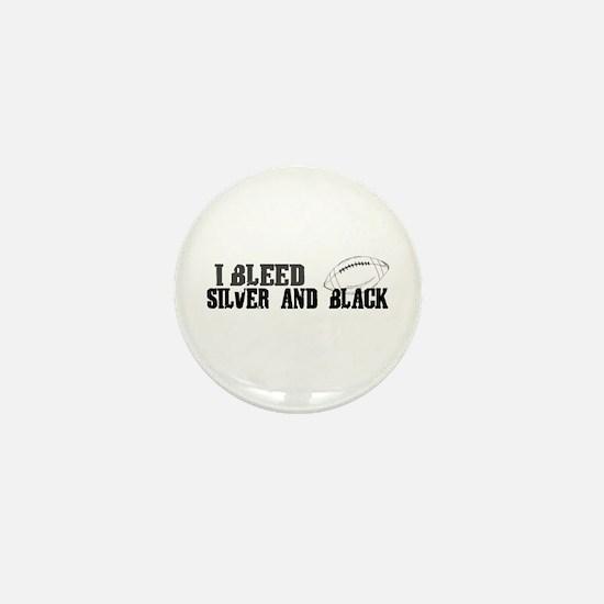 Bleed Silver and Black (Oakland) Mini Button
