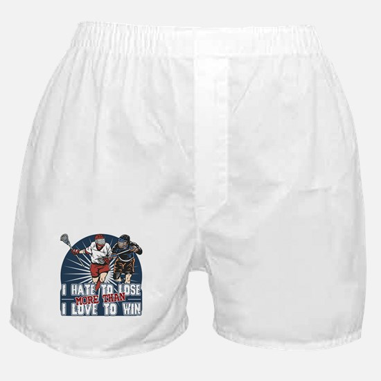 Hate to Lose Lacrosse Boxer Shorts