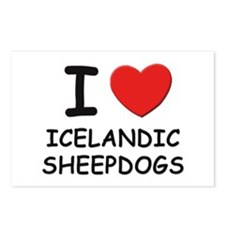 I love ICELANDIC SHEEPDOGS Postcards (Package of 8