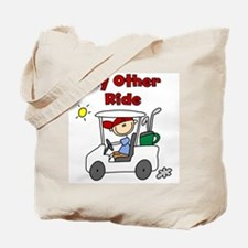 Golf My Other Ride Tote Bag