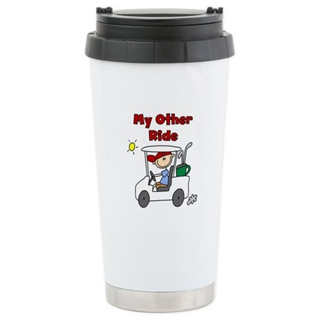 Golf My Other Ride Stainless Steel Travel Mug