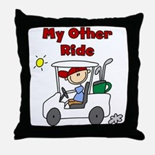 Golf My Other Ride Throw Pillow