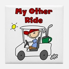 Golf My Other Ride Tile Coaster