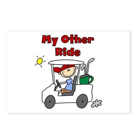 Golf My Other Ride Postcards (Package of 8)