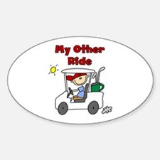 Golf My Other Ride Oval Decal