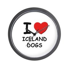 I love ICELAND DOGS Wall Clock