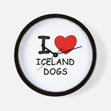 I love ICELAND DOGS Wall Clock