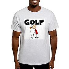 Stick Figure Girls GOLF T-Shirt