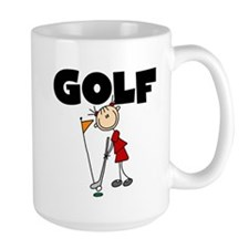 Stick Figure Girls GOLF Mug