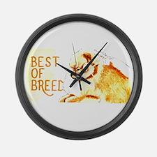 Pomernian Best Of Breed Large Wall Clock