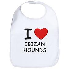 I love IBIZAN HOUNDS Bib