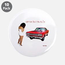"""ROADRUNNER 3.5"""" Button (10 pack)"""