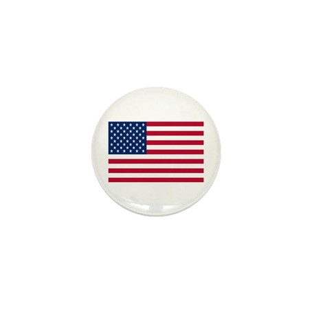 US Flag Mini Button