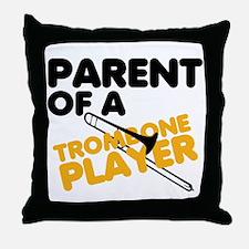 Trombone Parent Throw Pillow