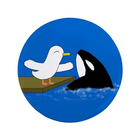 "I love Shamu! 3.5"" Button (100 pack)"