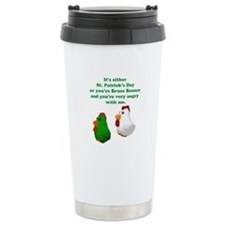 St Patrick's Day Chicken Travel Mug