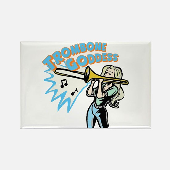 Trombone Goddess Rectangle Magnet