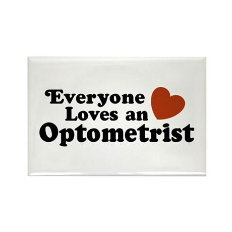 Everyone Loves an Optometrist Rectangle Magnet