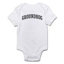 Groundhog (curve-grey) Infant Bodysuit